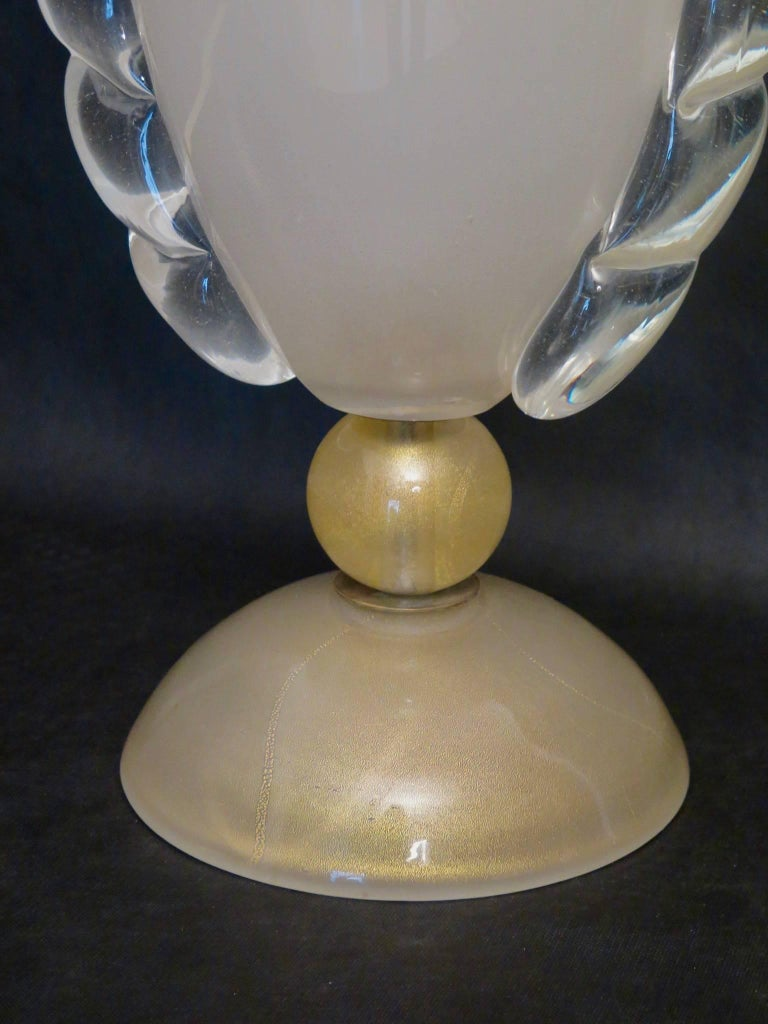 Mid-20th Century Barovier & Toso Murano Old Colored Glass Italian Midcentury Table Lamp, 1950 For Sale