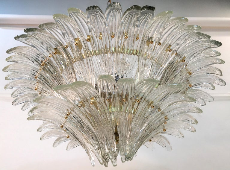 Barovier & Toso Palmette Chandelier For Sale 3