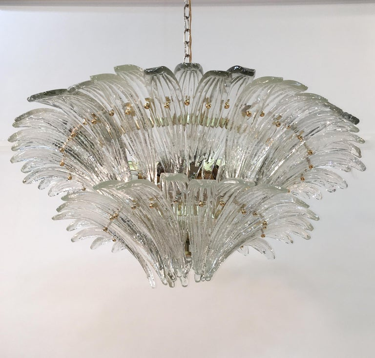 Barovier & Toso Palmette Chandelier For Sale 4