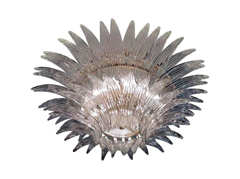 Barovier & Toso Palmette Chandelier For Sale 9