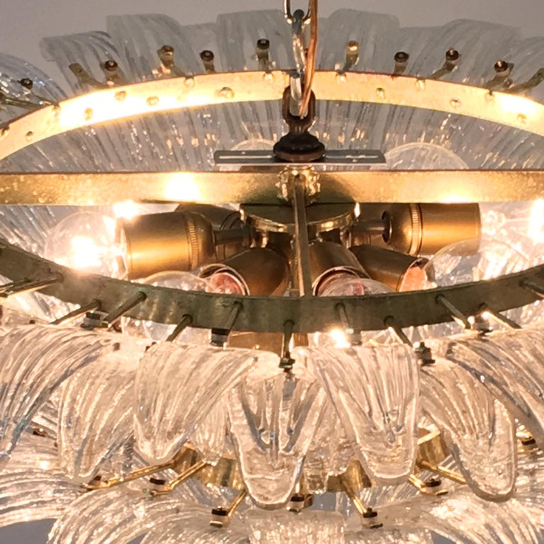 Barovier & Toso Palmette Chandelier In Excellent Condition For Sale In Hingham, MA