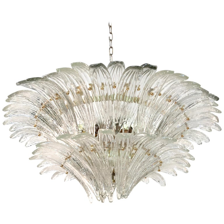 Barovier & Toso Palmette Chandelier For Sale