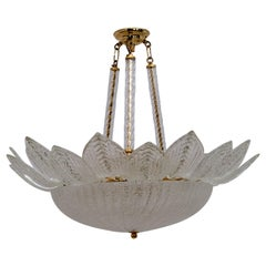 Barovier & Toso Style Mid-Century Italian Murano Glass Ceiling Chandelier, 70s