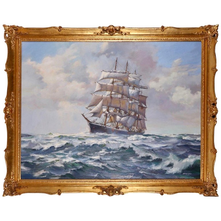 """""""Barque at Sea"""" by George Shaw For Sale"""