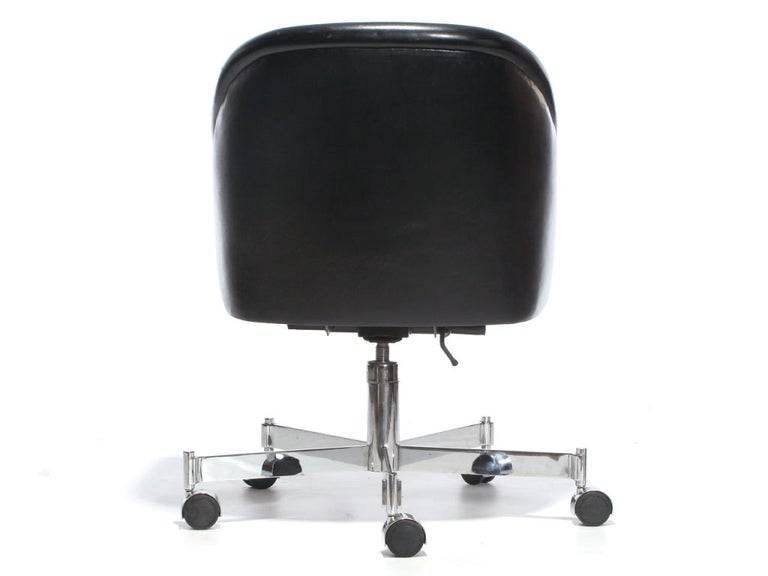 American Barrel-Back Desk Chair by Ward Bennett For Sale