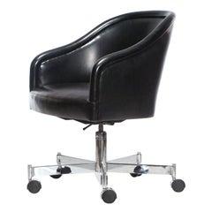 Barrel-Back Desk Chair by Ward Bennett