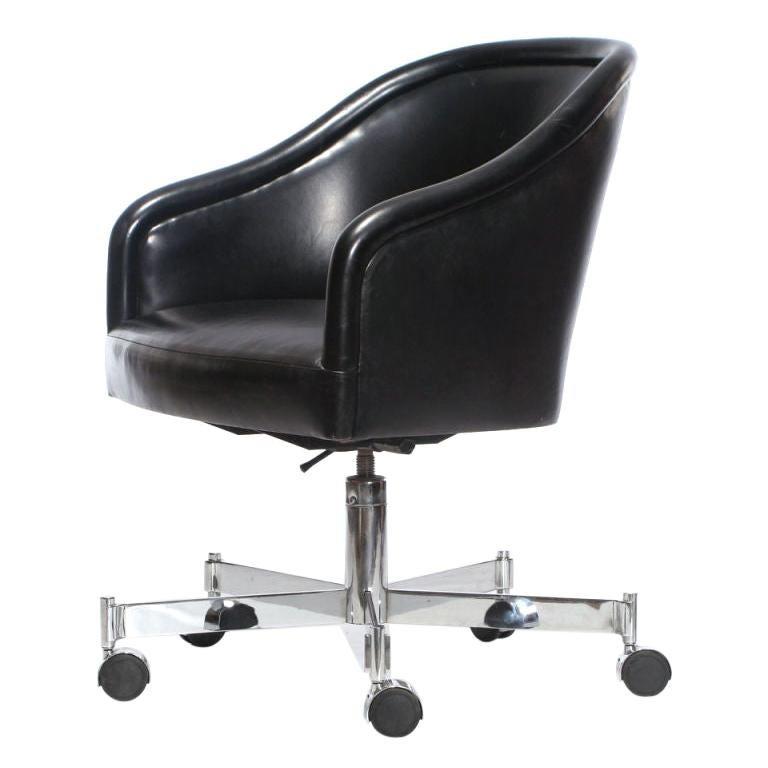 Barrel-Back Desk Chair by Ward Bennett For Sale