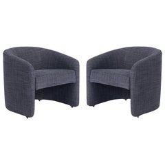 Vladimir KAGAN Barrel Back Lounge Chairs, 1970