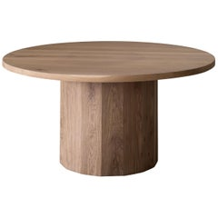 Barrel Dining Table in American Oak by Mr and Mrs White