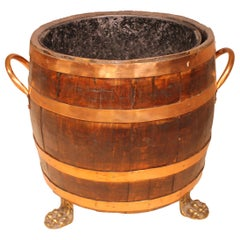 Barrel Shaped Coal Crate, 19th Century from England