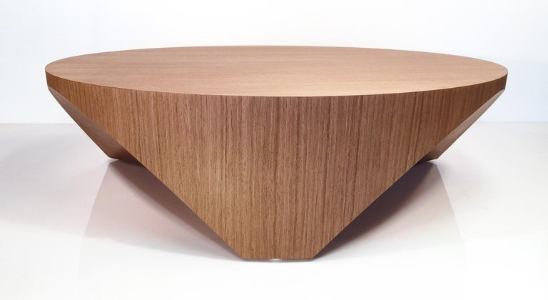 Hand-Crafted Barrens Modernist Tree Stump Series, Cocktail Table in Italian Walnut For Sale