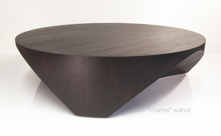 Barrens Modernist Tree Stump Series, Cocktail Table in Italian Walnut In New Condition For Sale In Newcastle, CA