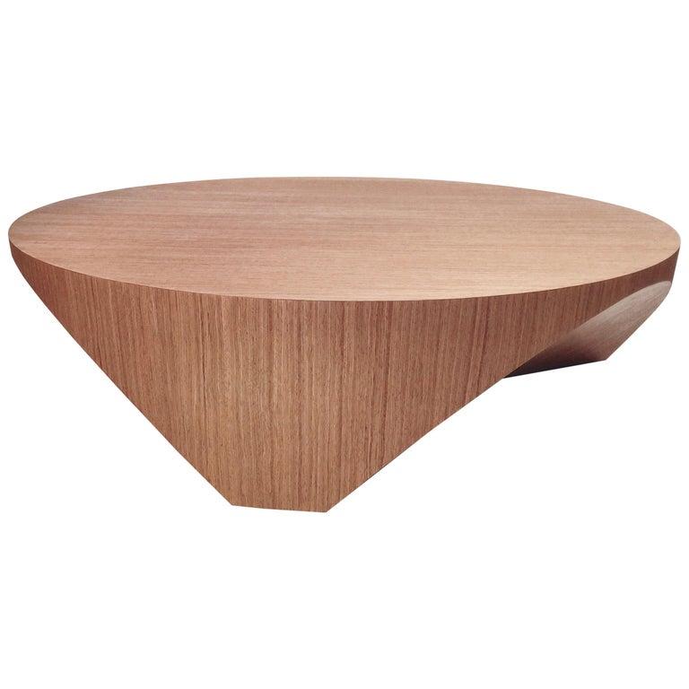 Barrens Modernist Tree Stump Series, Cocktail Table in Italian Walnut For Sale