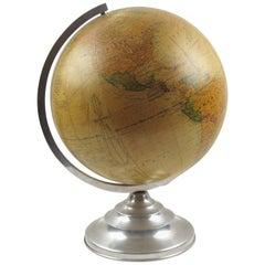 Barrere & Thomas France Terrestrial School Glass Globe Lamp