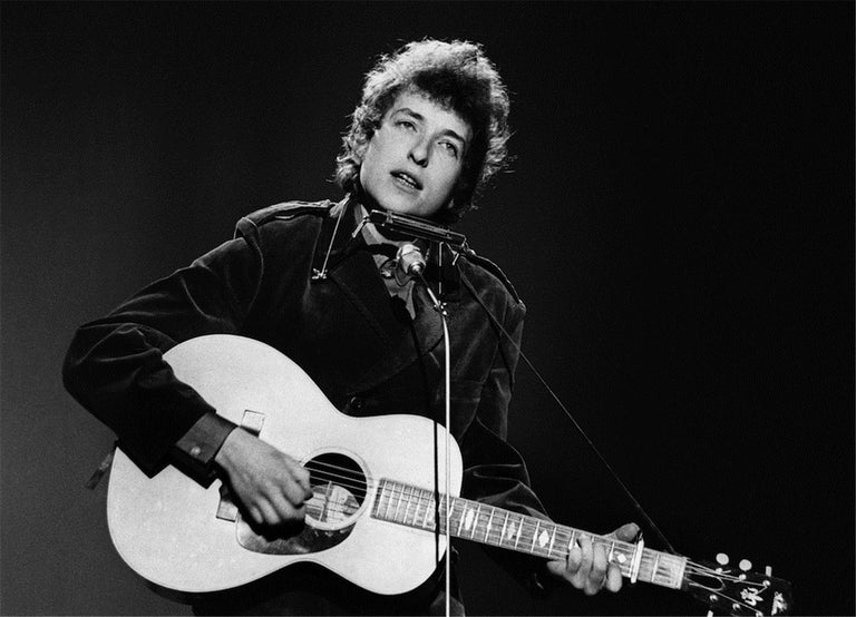 Barrie Wentzell Black and White Photograph - Bob Dylan, 1965