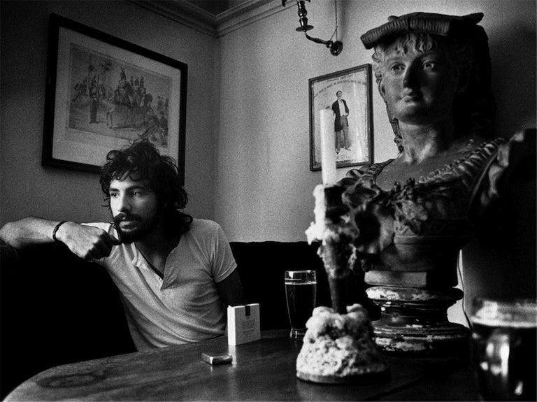 Barrie Wentzell Black and White Photograph - Cat Stevens, 1971