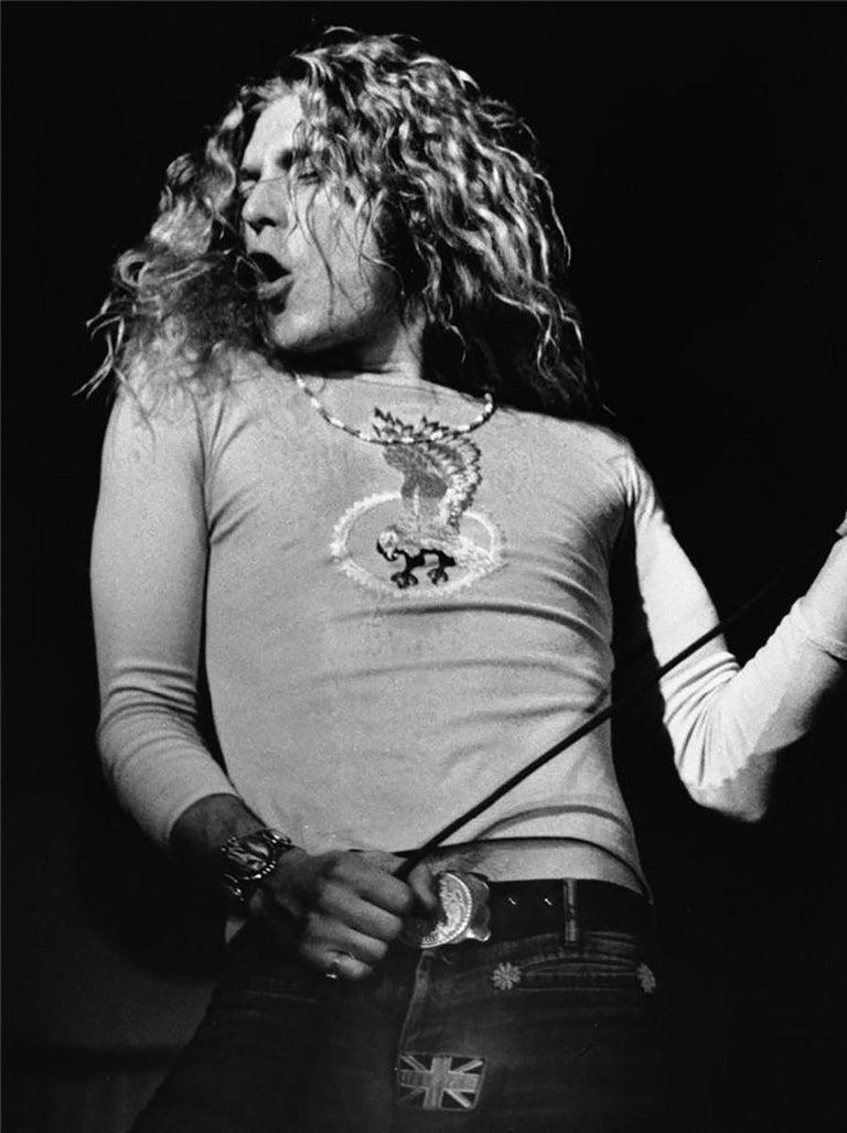 Barrie Wentzell Portrait Photograph - Robert Plant, Led Zeppelin, Wembley Arena, North London, 1972