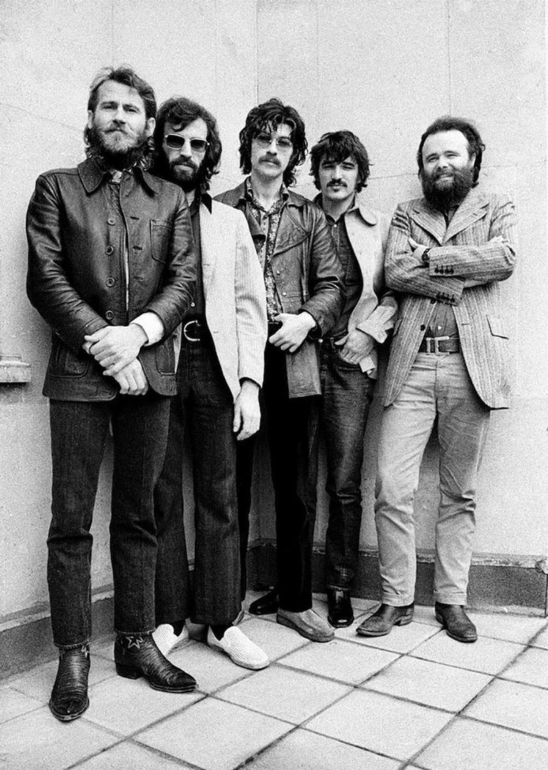 Barrie Wentzell Black and White Photograph - The Band, 1971