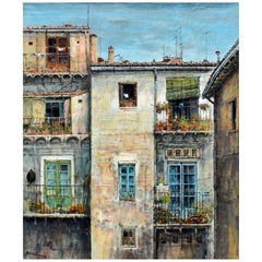 'Barrio del Carmen, Valencia' Original Oil Painting by F. Mir Belenguer B. 1934