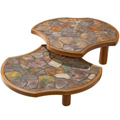 Barrois Coffee Table in Stone and Oak