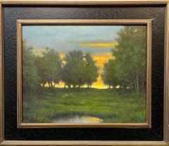 Dusk, original Hudson River School impressionist landscape