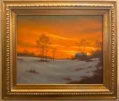 Evening Glory, original Hudson River School impressionist landscape