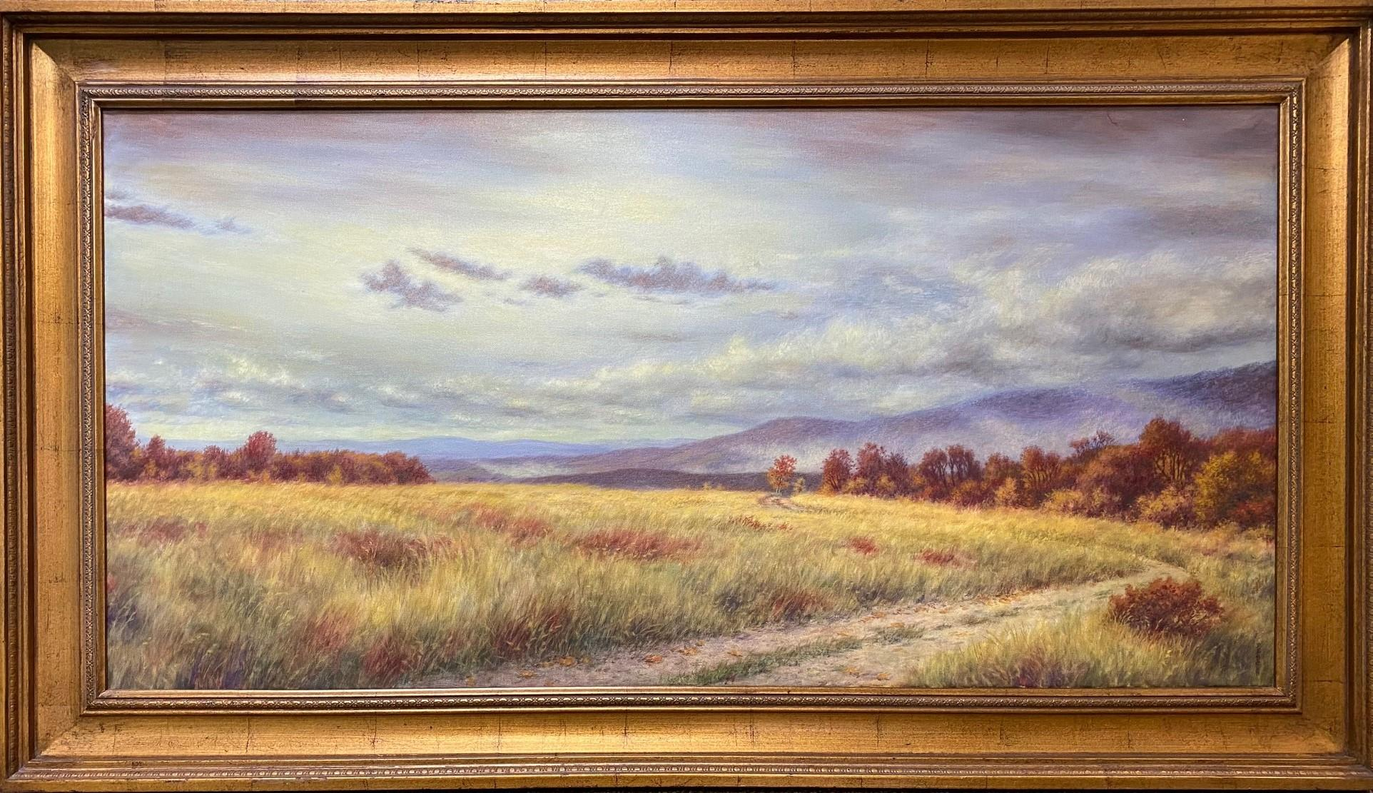Fields of Gold, original 24x48 contemporary impressionist landscape
