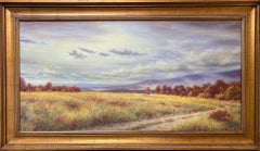 Fields of Gold, original 24x48 contemporary impressionist landscape