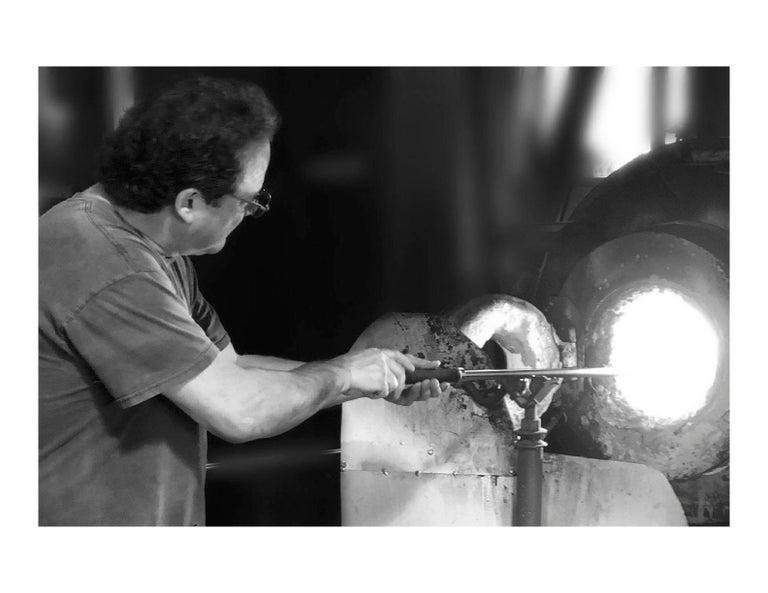 Barry Entner Triangle Solids Glass Sculpture, 2014 For Sale 4