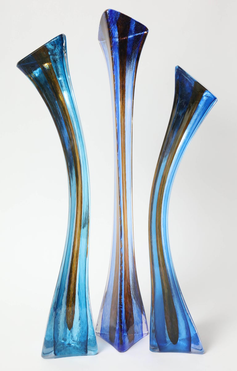Contemporary Barry Entner Triangle Solids Glass Sculpture, 2014 For Sale