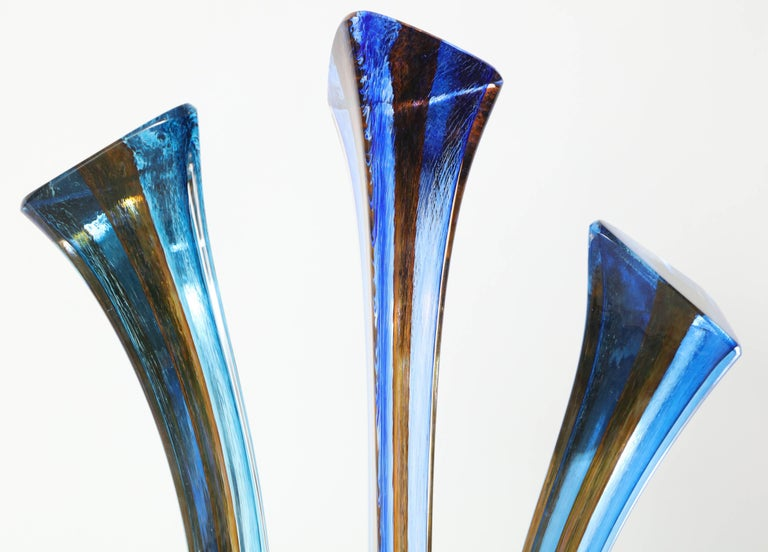 Blown Glass Barry Entner Triangle Solids Glass Sculpture, 2014 For Sale