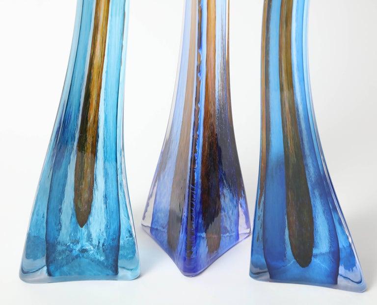 Barry Entner Triangle Solids Glass Sculpture, 2014 For Sale 1