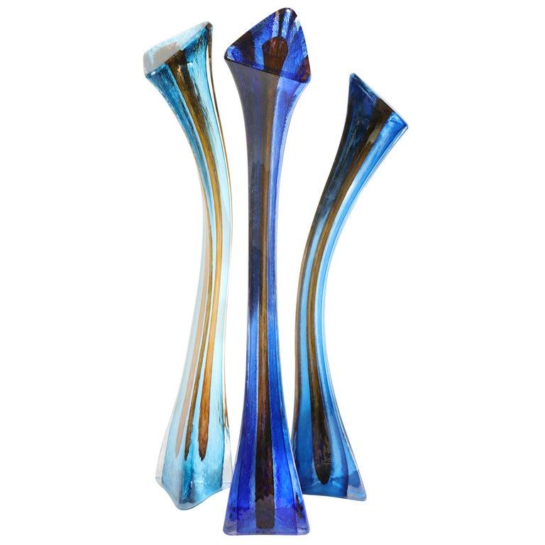 Barry Entner Triangle Solids Glass Sculpture, 2014 For Sale