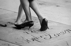 Fan in Sophia Loren's Footprints, Hollywood, CA, 1963