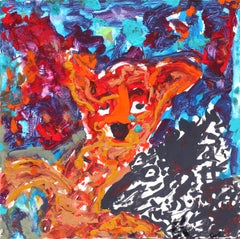 American School New York City Abstract Outsider Artist Animal Abstract Painting