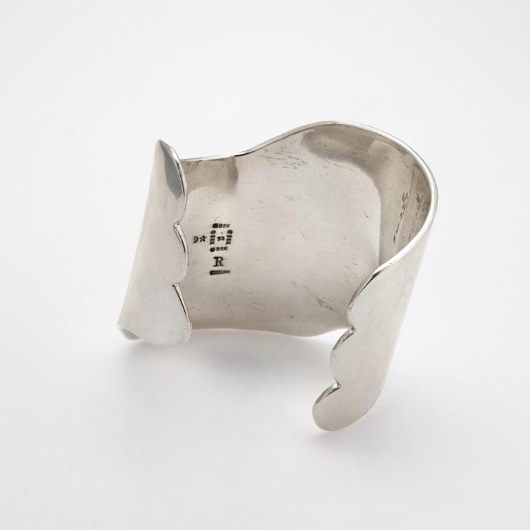 Modern Barry Kieselstein Cord Cuff Bracelet Sterling Silver Sculptural Large Estate For Sale
