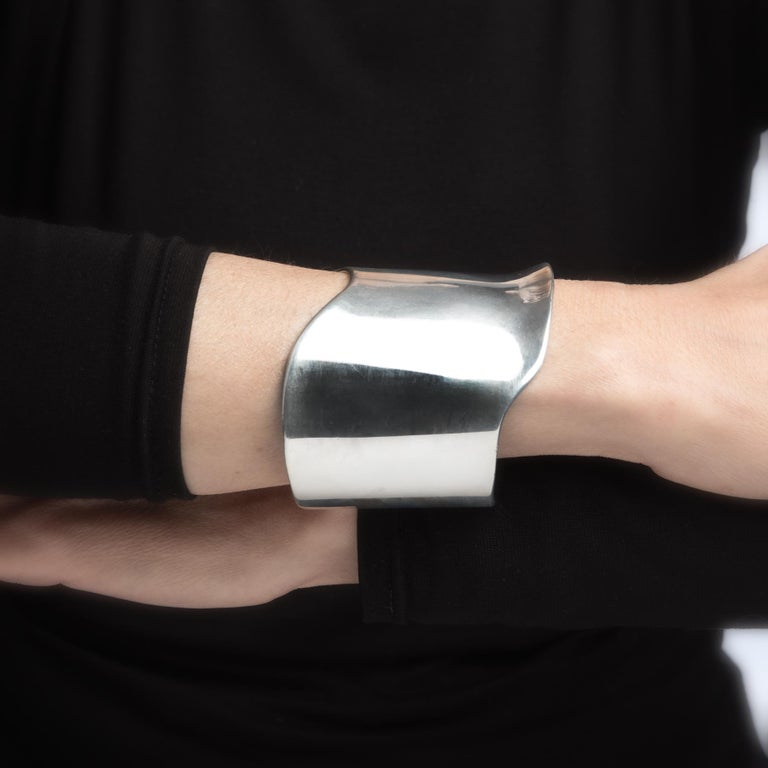 Barry Kieselstein Cord Cuff Bracelet Sterling Silver Sculptural Large Estate In Excellent Condition For Sale In Torrance, CA
