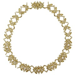 Barry Kieselstein Cord Yellow Gold and Diamond Necklace