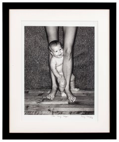 Dylan Henry Lategan. Black & white photography, mom and son portrait, 1981.