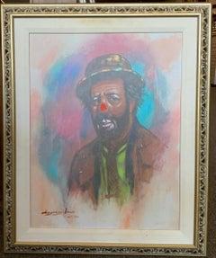 Limited Edition Self Portrait Osartistin Clown Venue by Barry Leighton-Jones