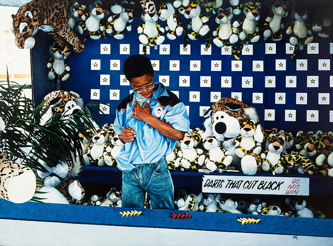Barry Ortesky, Darts That Cut Black, 1989
