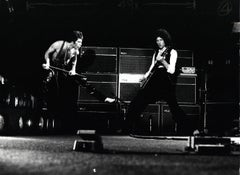 Freddie Mercury and Brian May of Queen Rocking Out Vintage Original Photograph