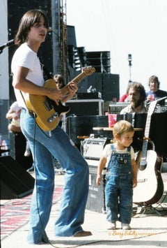 Jackson Browne and son Ethan, Los Angeles, CA, 1975