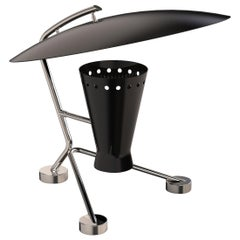 Barry Table Light in Black with Brass Detail