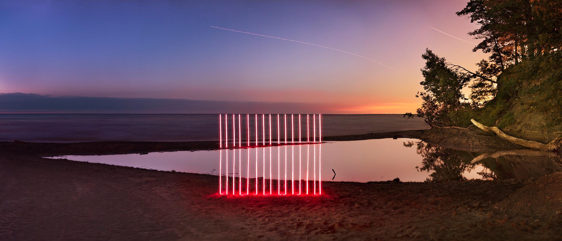 Landscape, Nature, Trees, Water, Light, Huntington Beach,