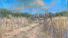 Afternoon at the Dunes, 32x46x1.5 original impressionist marine landscape