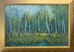 Aspen Grove, original 24x36 contemporary landscape