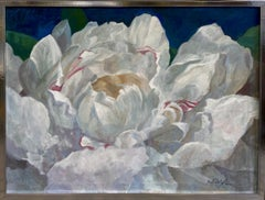 Peony in Full Bloom, original 30x40 contemporary landscape