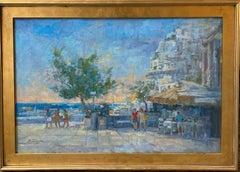 Positano Beach Front, 24x36 original Italian impressionist marine landscape