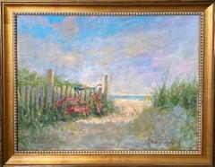Red Bike, original impressionist marine landscape
